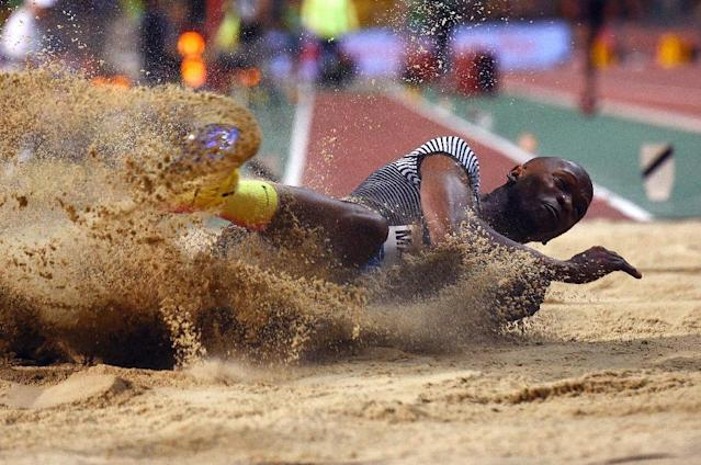 Luvo Manyonga has bounced back from near death through methamphetamine addiction to become a sporting star in his native South Africa (AFP Photo/JOHN THYS)