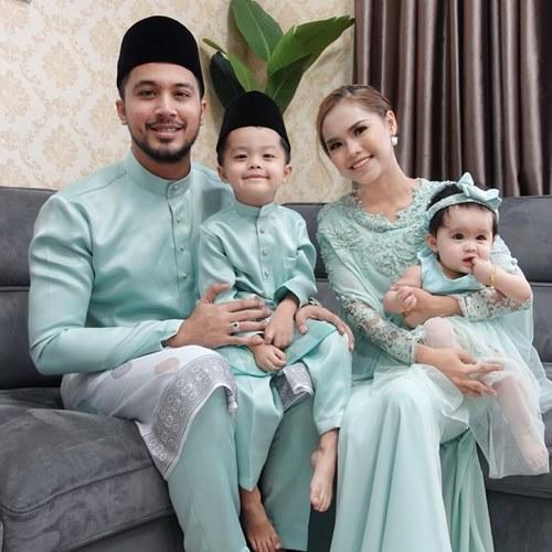Aliff with wife Bella and their children