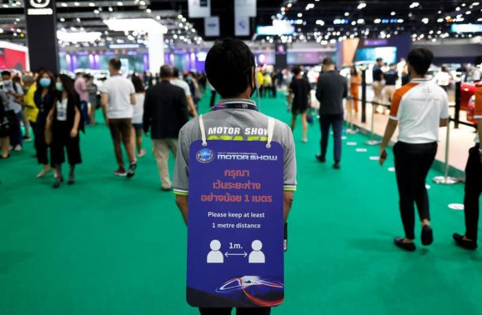 The delayed Bangkok International Motor Show opens to the public amid outbreak of coronavirus disease