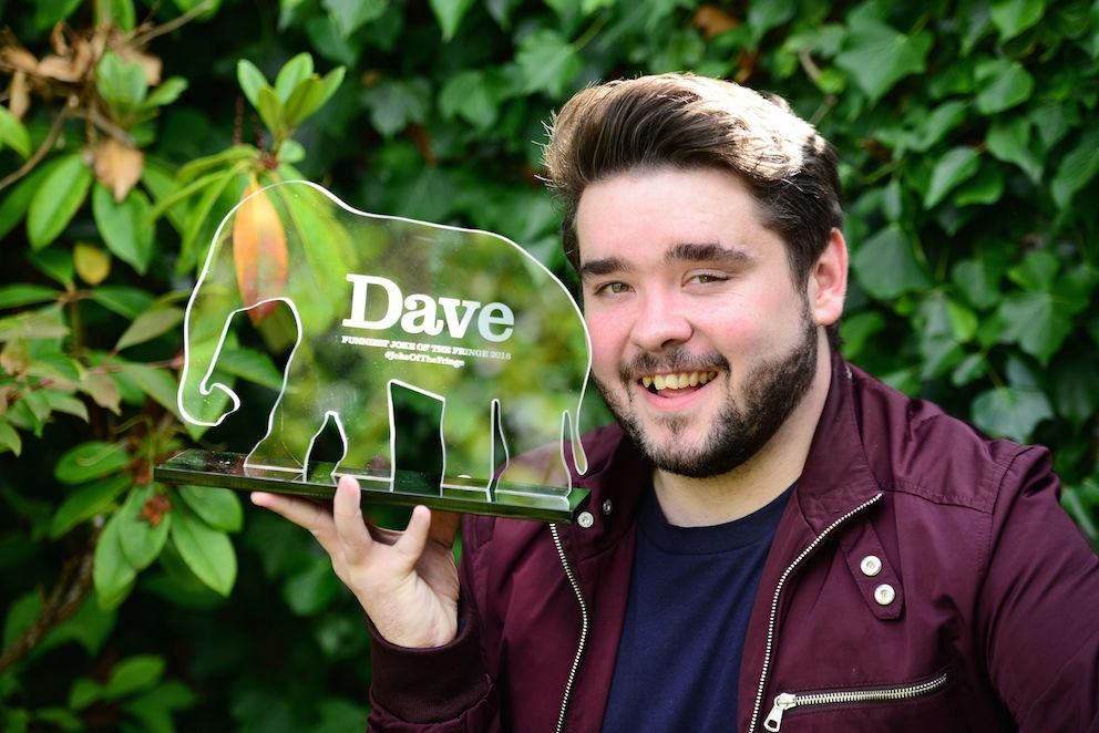 Comedian Adam Rowe has won the 11th annual award for Dave's Funniest Joke Of The Fringe in Edinburgh (Picture: PA)