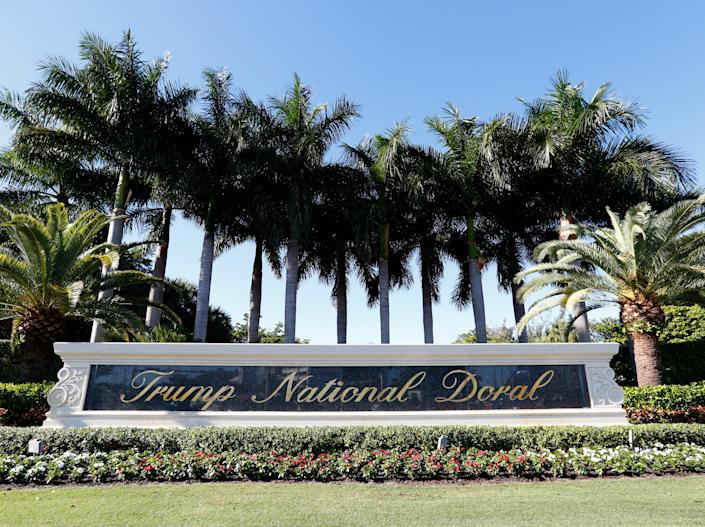 "The entrance to the Trump National Doral resort in Doral, Florida. <p class=""copyright"">Associated Press</p>"