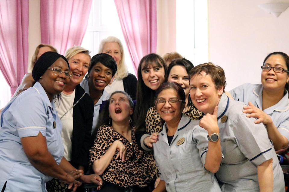 Amy has bid farewell to Marillac Care, where she has lived for three years (SWNS)