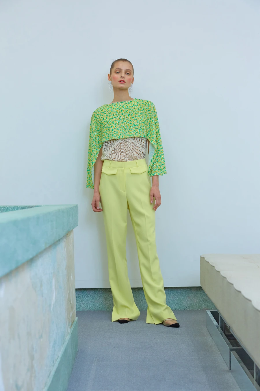 """You should buy this under-$60 pair of slime green slacks if only to wear to your doorstep and back. <br> <br> <strong>Loeil</strong> Akuchi Pant, $, available at <a href=""""https://go.skimresources.com/?id=30283X879131&url=https%3A%2F%2Ftheloeil.com%2Fcollections%2Fsale%2Fproducts%2Fakuchi-pant-lemon"""" rel=""""nofollow noopener"""" target=""""_blank"""" data-ylk=""""slk:Loeil"""" class=""""link rapid-noclick-resp"""">Loeil</a>"""