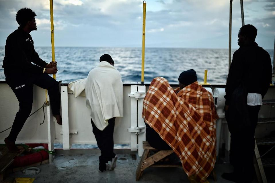 Despite a sharp drop in asylum seekers entering Europe since a 2015 peak, Italy is turning away migrant rescue ships in a bid to force other EU countries to take their share (AFP Photo/LOUISA GOULIAMAKI)