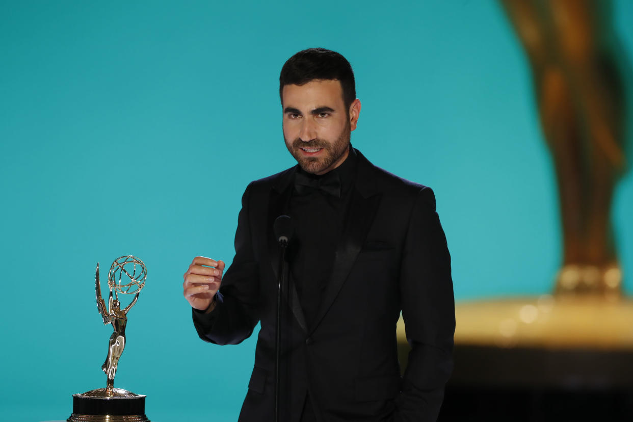 Brett Goldstein drops some F-bombs as he accepts his award for Outstanding Supporting Actor in a Comedy Series.
