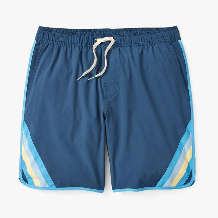 """<p>This brand's classic, something-for-everyone suits have a twist he'll love (they've swapped the mesh liner for a more comfortable """"BreatheKnit"""" inner short) and a twist you all can get behind (they're made from recycled plastic bottles). Bonus: They've also got <a href=""""https://www.fairharborclothing.com/collections/kids-trunks/products/kids-anchor?variant=32663743332433"""" rel=""""nofollow noopener"""" target=""""_blank"""" data-ylk=""""slk:a mini version for kids,"""" class=""""link rapid-noclick-resp"""">a mini version for kids,</a> if Dad's up for a matching moment.</p> <p><strong>Buy It! </strong>Fair Harbor """"The Anchor"""" swim trunks, $68; <a href=""""https://www.fairharborclothing.com/products/the-anchor-short-new?variant=31825940054097"""" rel=""""sponsored noopener"""" target=""""_blank"""" data-ylk=""""slk:fairharborclothing.com"""" class=""""link rapid-noclick-resp"""">fairharborclothing.com</a></p>"""