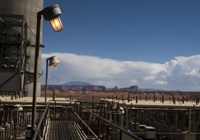 Another view of Navajo Generating Station. (Nick Oza for HuffPost)