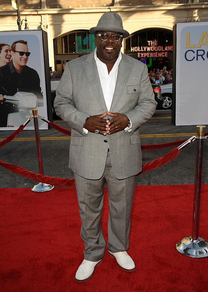 "<a href=""http://movies.yahoo.com/movie/contributor/1800314117"">Cedric the Entertainer</a> at the Los Angeles premiere of <a href=""http://movies.yahoo.com/movie/1810196533/info"">Larry Crowne</a> on June 27, 2011."