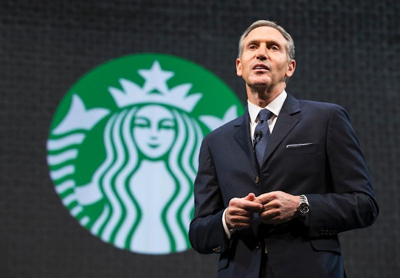 Starbucks chairman and CEO Howard Schultz