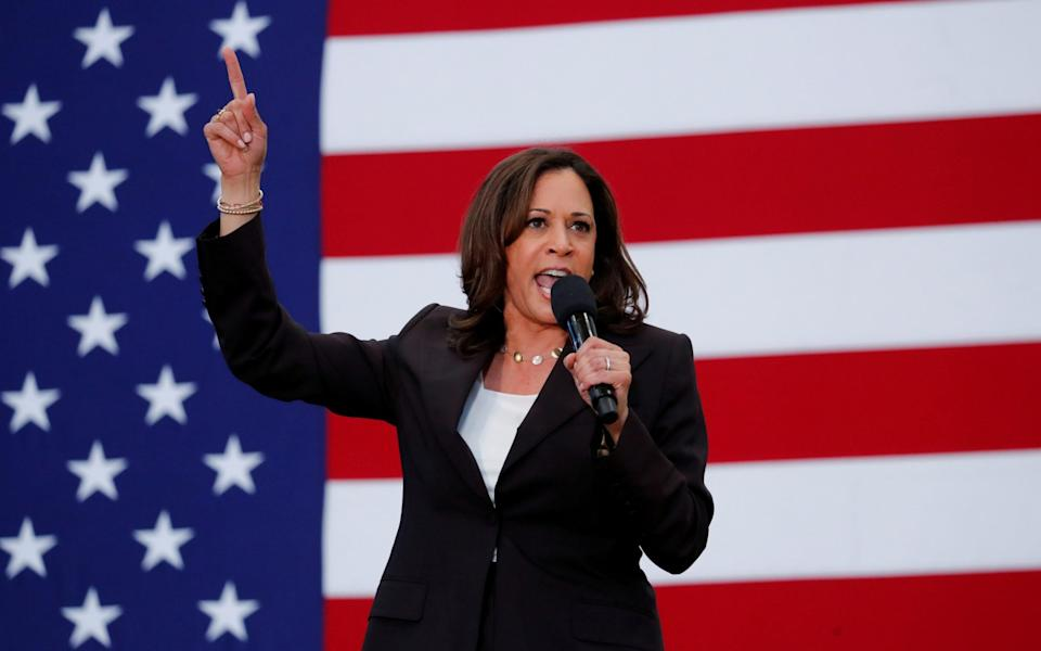 Harris is a strong debater and could be a challenge for Mike Pence, Trump's VP pick - REUTERS