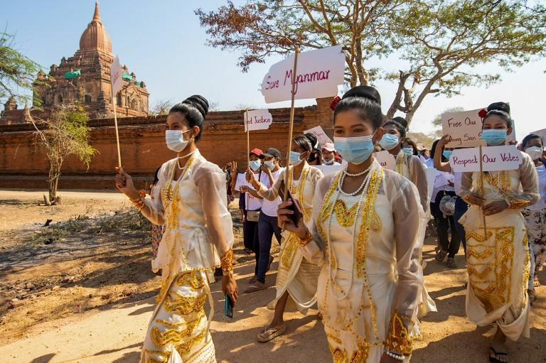 Myanmar's economy -- reeling as workers nationwide down tools rather than cooperate under military rule -- is expected to contract by a staggering 10 percent in 2021
