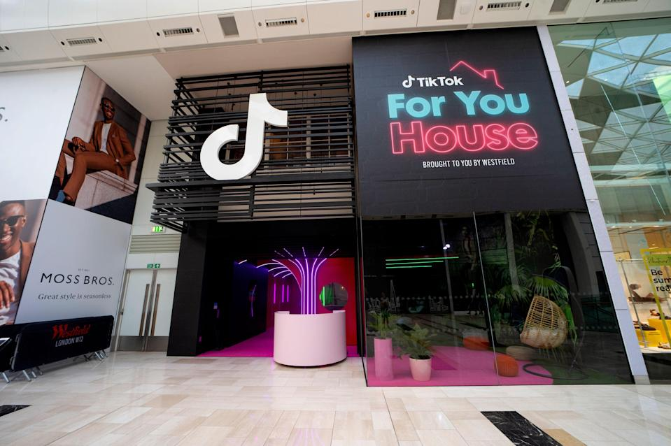 A new TikTok pop-up has opened at the Westfield centre in White City (Westfield)