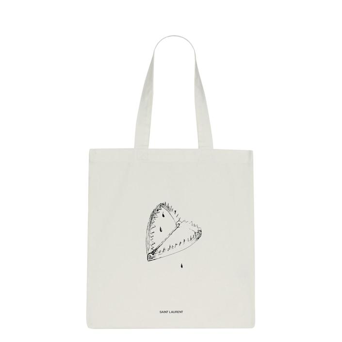A tote bag from Saint Laurent Rive Droite.