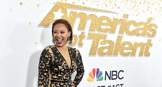 Mel B attends the <em>America's Got Talent</em> Season 13 live show at the Dolby Theatre, Aug. 14, 2018, in Hollywood. (Photo: Frazer Harrison/Getty Images)