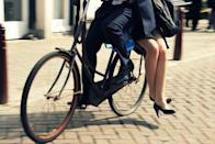 """<div class=""""caption-credit""""> Photo by: amsterdamcyclechic.com</div>Where is this suave couple off to?"""