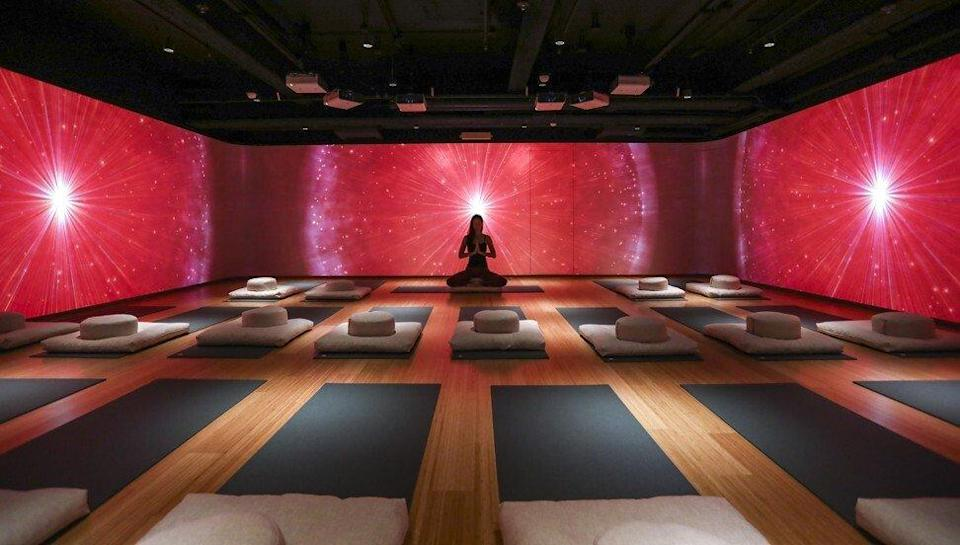 The soundscape room at the Fivelements Habitat wellness centre at Times Square. Photo: Jonathan Wong