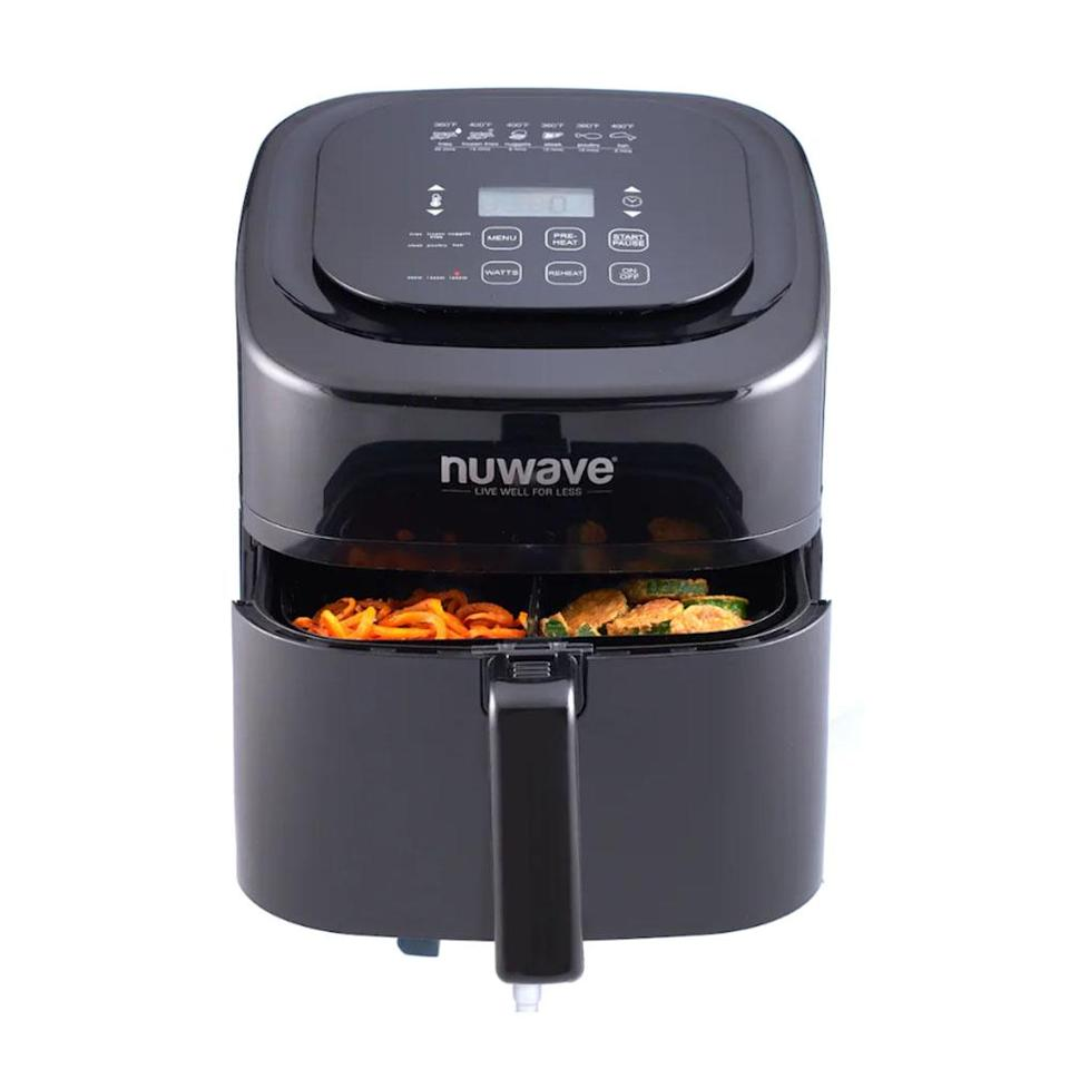 "<p>As seen on TV, crisp up everything from veggies to potatoes with the highly rated NuWave air fryer. It even comes with six presets for favorites like fries and steak.<br><strong><a href=""https://fave.co/2Qe9yd6"" rel=""nofollow noopener"" target=""_blank"" data-ylk=""slk:SHOP IT"" class=""link rapid-noclick-resp"">SHOP IT</a>:</strong> $130 (was $150), <a href=""https://fave.co/2Qe9yd6"" rel=""nofollow noopener"" target=""_blank"" data-ylk=""slk:kohls.com"" class=""link rapid-noclick-resp"">kohls.com</a> </p>"