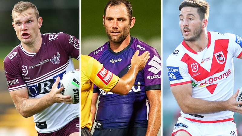 Payers from Manly, Melbourne and St George Illawarra, pictured here during the 2020 season.