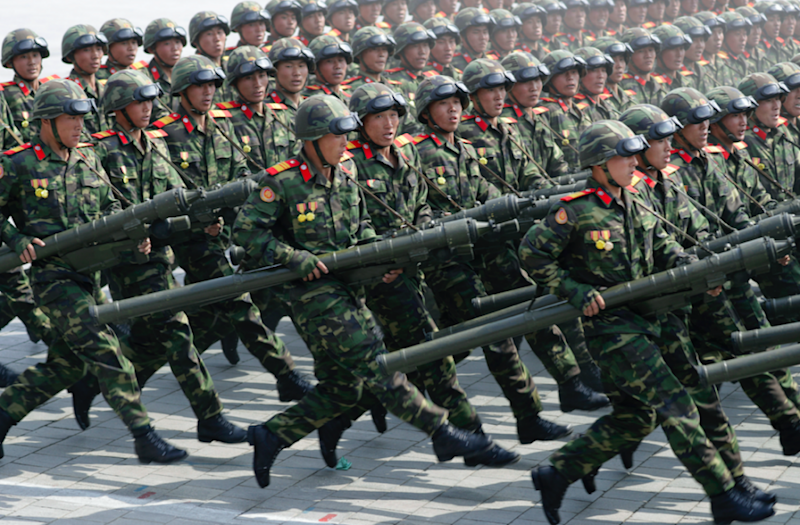 Soliders in North Korea are being told to prepare for war. Photo: AAP