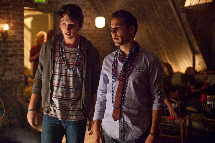 "This film image released by Relativity Media shows Miles Teller, left, and Skylar Astin in a scene from ""21 & Over"".  (AP Photo/Relativity Media, John Johnson)"