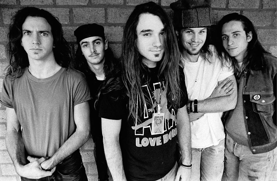 <p>Pearl Jam photographed in Amsterdam in 1992.</p>