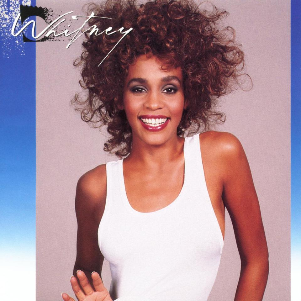 "This cover image released by Arista Records shows ""Whitney"" by Whitney Houston. The late singer has earned her third diamond certified album, becoming the first Black artist to achieve the feat. The Recording Industry Association of America (RIAA) and Legacy Recordings announced Wednesday that Houston's 1987 sophomore album, ""Whitney,"" has reached diamond status, which is equivalent to selling 10 million albums. (Arista Records via AP)"