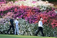 The usual spectacular spring flowers at the Masters will be replaced this year at Augusta National by autumn conditions and colorful leaves among the Georgia pine trees