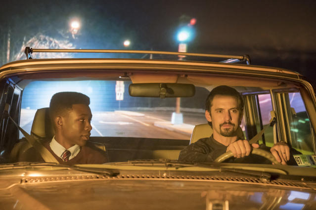 <p>Niles Fitch as Randall and Milo Ventimiglia as Jack in NBC's <i>This Is Us</i>.<br> (Photo: Ron Batzdorff/NBC) </p>