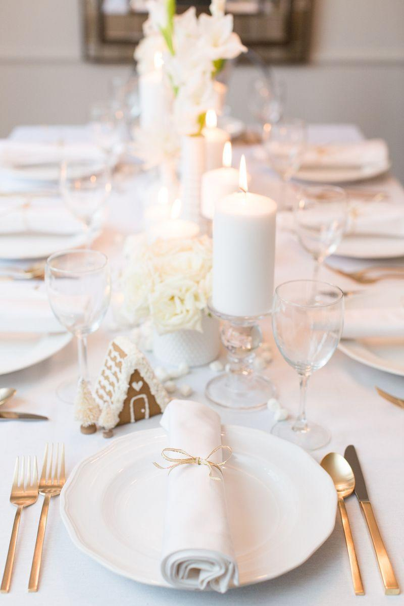 """<p>Celebrate a white Christmas, no matter the climate. Use <a href=""""https://www.goodhousekeeping.com/holidays/christmas-ideas/g344/gingerbread-houses/"""" rel=""""nofollow noopener"""" target=""""_blank"""" data-ylk=""""slk:tiny gingerbread houses"""" class=""""link rapid-noclick-resp"""">tiny gingerbread houses</a>, monochrome florals, and even miniature marshmallows to set the snow-dusted scene.</p><p><span class=""""redactor-invisible-space""""><a class=""""link rapid-noclick-resp"""" href=""""https://www.amazon.com/Christmas-Cookie-Cutters-Set-Gingerbread/dp/B0784W6D64/ref=sr_1_1_sspa?tag=syn-yahoo-20&ascsubtag=%5Bartid%7C10055.g.2196%5Bsrc%7Cyahoo-us"""" rel=""""nofollow noopener"""" target=""""_blank"""" data-ylk=""""slk:SHOP GINGERBREAD HOUSE KITS"""">SHOP GINGERBREAD HOUSE KITS</a> </span><br></p>"""