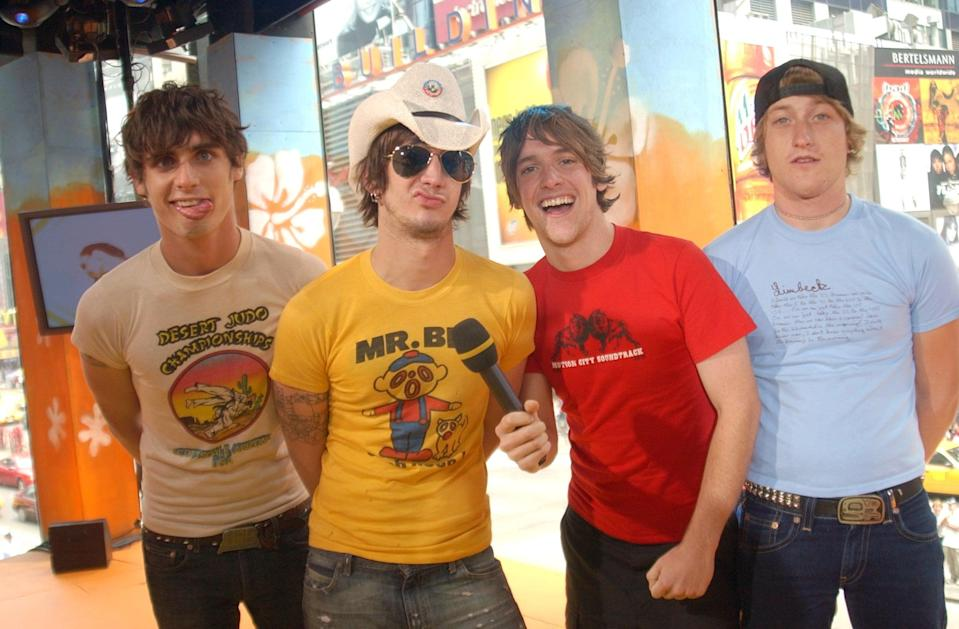 <p>The All-American Rejects stopped by <b>TRL</b> in 2003.</p>