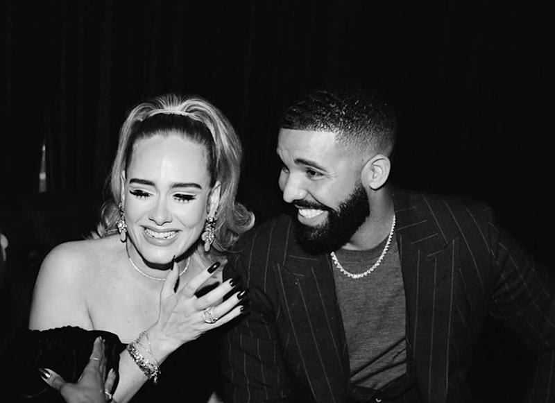 After photos from Drake's (pictured) birthday party appeared online, many people praised Adele's apparent weight loss: Instagram / Drake