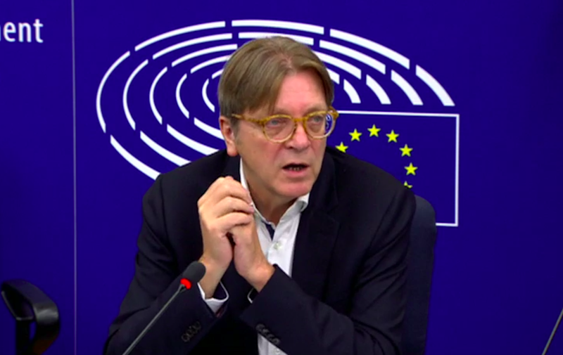 Guy Verhofstadt hit out at the comments