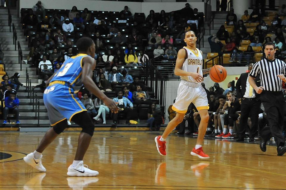 Sophomore point guard Ivy Smith is Grambling State's leading scorer. (via Grambling State athletics)