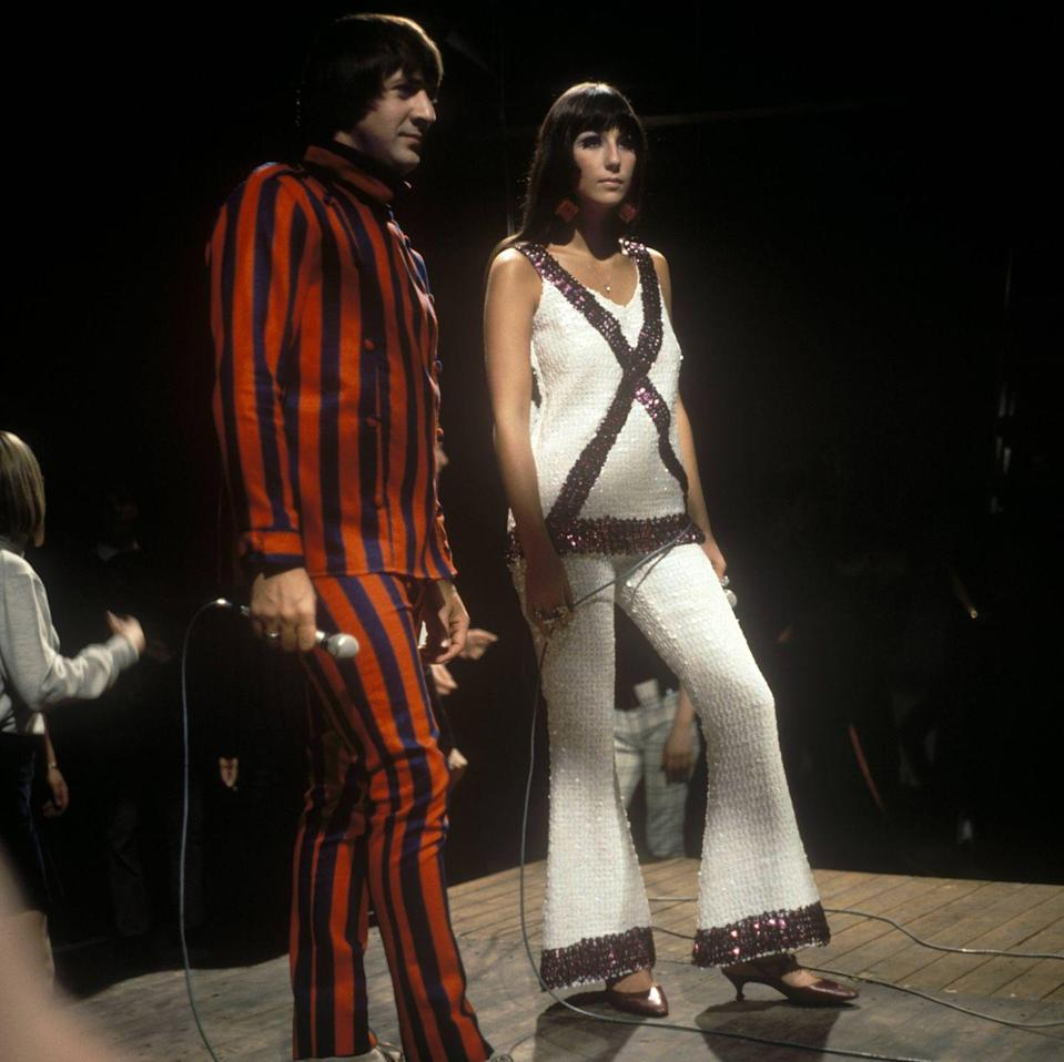 <p>Performing alongside Sonny Bono in a sequined two-piece set. </p>