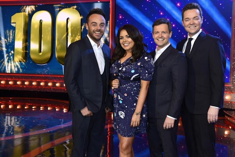 Prime time: Scarlett Moffatt with Ant McPartlin and Declan Donnelly on Saturday Night Takeaway (ITV)