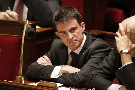 French Prime Minister Manuel Valls attends the questions to the government session at the National Assembly in Paris