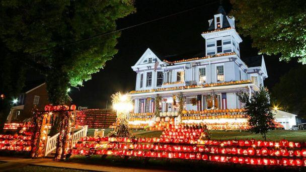 PHOTO: The Pumpkin House in West Virginia is decorated with 3,000 lit, hand-carved pumpkins for the annual C-K Autumn Fest. (Long Creative)