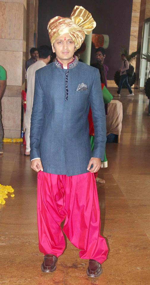 <p>Dressed up for his wedding </p>