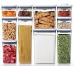 <p>Organize your pantry and kitchen with these helpful <span>OXO Pop 10-Pc. Food Storage Container Set</span> ($175). To activate the airtight seal, simply push the utton on the lid of each container. The space-efficient design is made for modular stacking.</p>