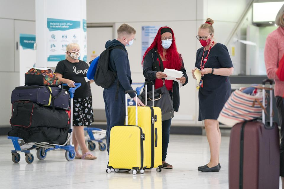 Labour said an estimated 5,857,558 tourists face the prospect of last-minute quarantine requirements (Jane Barlow/PA) (PA Wire)