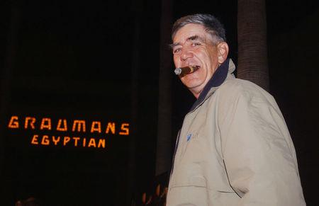 """FILE PHOTO Actor R. Lee Ermey, a cast member in the remake of the acclaimed 1971 horror classic """"Willard,"""" poses during the premiere of the film in Hollywood"""