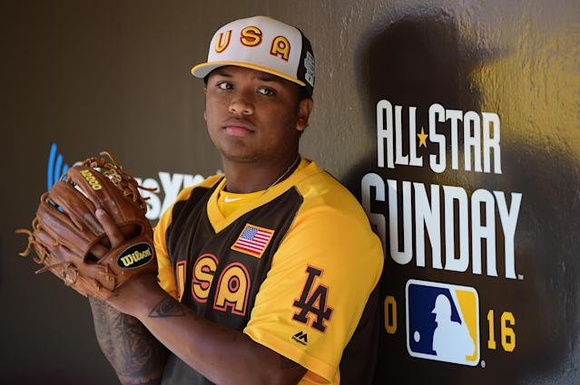 Willie Calhoun is ready for his close up. (Harry How/Getty Images)