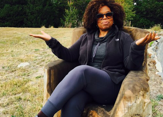 Oprah Winfrey on set of <em>A Wrinkle in Time</em> (Photo: Ava DuVernay/Twitter)