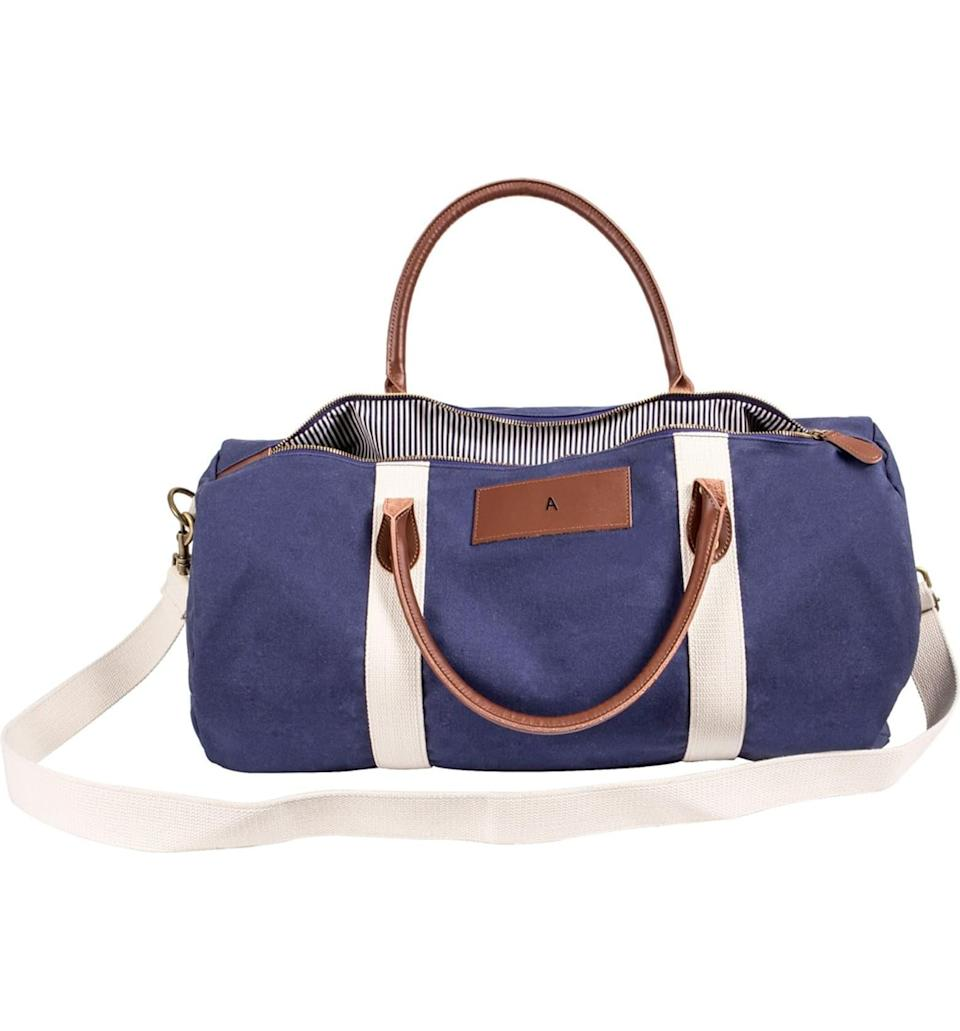"""<h3><a href=""""https://shop.nordstrom.com/s/cathys-concepts-monogram-duffle-bag/4547364/full"""" rel=""""nofollow noopener"""" target=""""_blank"""" data-ylk=""""slk:Cathys Concepts Monogram Duffle Bag"""" class=""""link rapid-noclick-resp"""">Cathys Concepts Monogram Duffle Bag</a></h3><br>The single initial embellishment on this duffle bag means they'll always be traveling in style. <br><br><strong>Cathys Concepts</strong> Monogram Duffle Bag, $, available at <a href=""""https://go.skimresources.com/?id=30283X879131&url=https%3A%2F%2Fshop.nordstrom.com%2Fs%2Fcathys-concepts-monogram-duffle-bag%2F4547364%2Ffull"""" rel=""""nofollow noopener"""" target=""""_blank"""" data-ylk=""""slk:Nordstrom"""" class=""""link rapid-noclick-resp"""">Nordstrom</a>"""