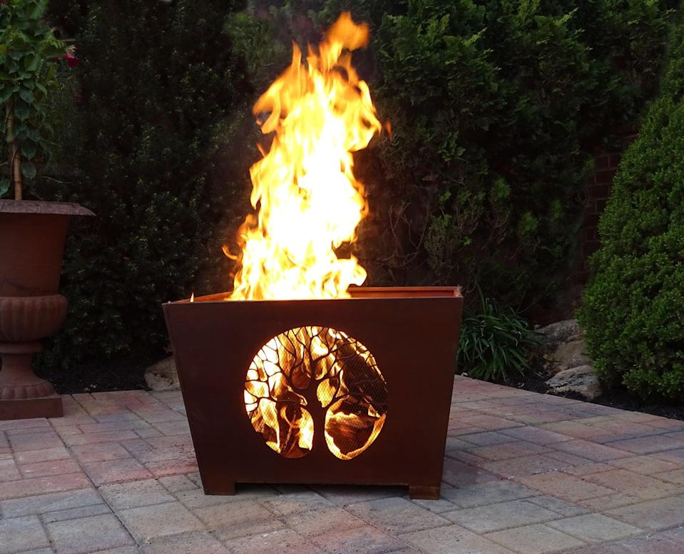 <p>The great outdoors will seem even greater when you have this <span>Longinidis Wolf Steel Wood Burning Fire Pit</span> ($102, originally $114) lit.</p>