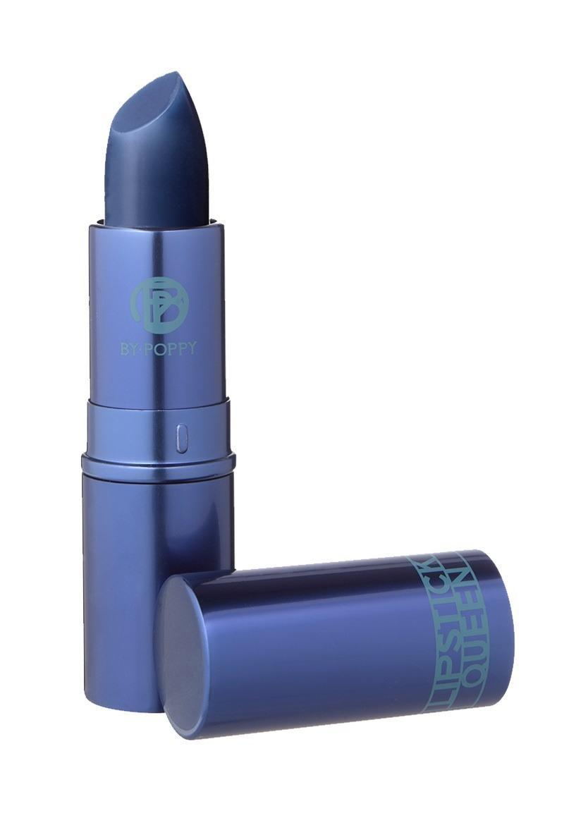"<p>Blue in the tube, sheer berry on your lips.<a href=""http://www.lipstickqueen.com/hello-sailor.html"" rel=""nofollow noopener"" target=""_blank"" data-ylk=""slk:Lipstick Queen Hello Sailor"" class=""link rapid-noclick-resp""> Lipstick Queen Hello Sailor </a>($25)</p>"