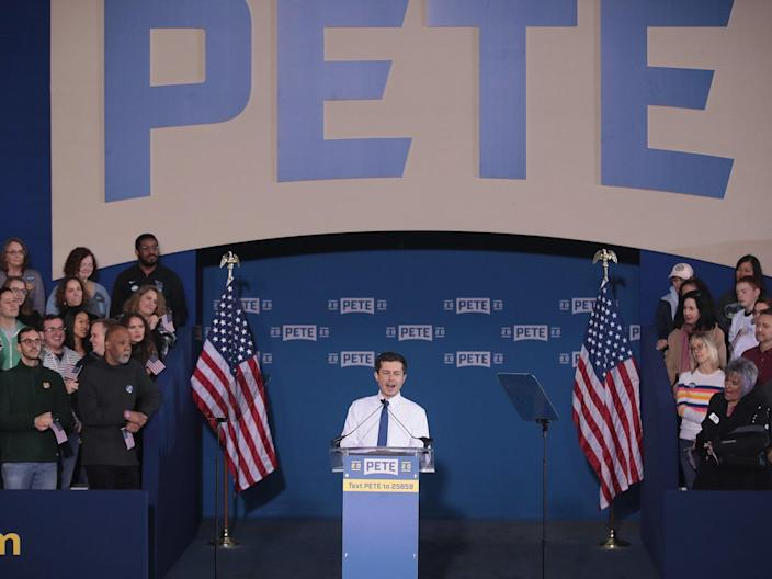 """When Pete Buttigieg officially announced his presidential candidacy this weekend, he had already achieved something most candidates can only dream of.Just months ago, the mayor of South Bend, Indiana was a relatively unknown figure whose major accomplishment to present to American voters was the revitalization of a mid-sized city in the midwest.But, now, months into his first major foray into national politics, Mr Buttigieg has surged into third place in several key states against an impressive find of seasoned competitors, raised a startling amount of money, and has even forced the vice president of the United States to respond to his critiques.""""If me being gay was a choice, it was a choice that was made far, far above my pay grade,"""" Mr Buttigieg said recently at an event in his home state of Indiana, a reference to the issue that has pit him against Mike Pence and brought him glowing headlines.""""And that's the thing I wish the Mike Pences of the world would understand: that if you've got a problem with who I am, your problem is not with me. Your quarrel, sir, is with my creator.""""If elected, Mr Buttigieg would be the first openly gay president of the United States, and his husband Chasten would be America's first first gentleman.But, at 37, Mr Buttigieg is also hoping to become the youngest president in American history, and the two term mayor has repeatedly framed his age as an asset for the job — many of the issues facing the United States and the world, he says on the campaign trail, are ones his generation has and will shoulder more than the generations his presidential competition belong to.""""I take that long view because I have to,"""" Mr Buttigieg said during his announcement on Sunday, referring to the perspective he has as the only millennial in the race. """"I come from that generation that grew up with school shootings as the norm, the generation that produced the bulk of the troops in the post-9/11 conflicts, the generation that is going to be on the business e"""
