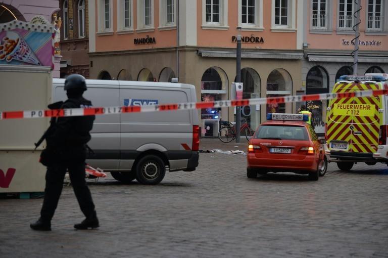 Police sealed off the area and urged people to stay away from the city centre