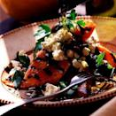 """<p>This super quick dish of grilled sweet potatoes with feta and olives is perfect for serving to your vegetarian guests at a barbecue.</p><p><strong>Recipe: <a href=""""https://www.goodhousekeeping.com/uk/food/recipes/a537789/grilled-sweet-potatoes-with-feta-olives/"""" rel=""""nofollow noopener"""" target=""""_blank"""" data-ylk=""""slk:Grilled sweet potatoes with feta and olives"""" class=""""link rapid-noclick-resp"""">Grilled sweet potatoes with feta and olives</a></strong></p>"""
