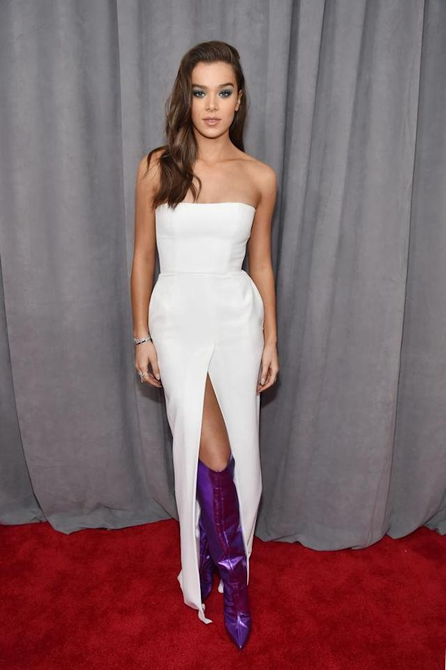 <p>Hailee Steinfeld attends the 60th Annual Grammy Awards at Madison Square Garden in New York on Jan. 28, 2018. (Photo: John Shearer/Getty Images) </p>